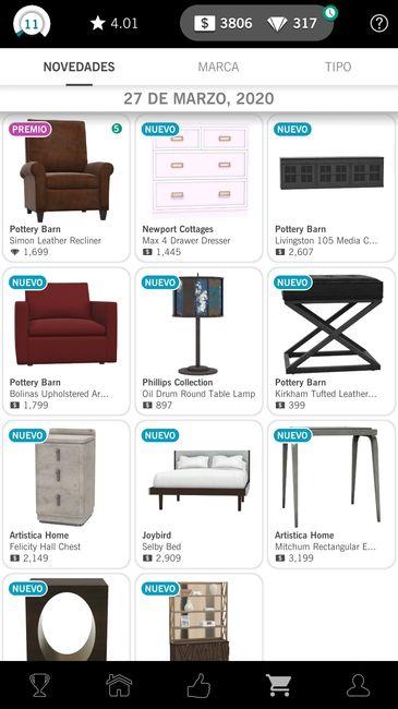 design home inventario