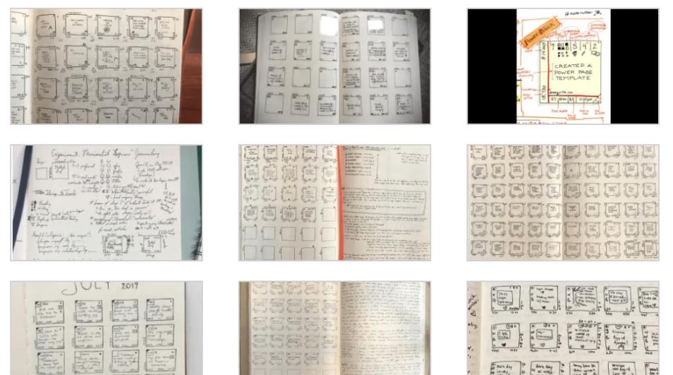minimalist journal system ejemplos ideas