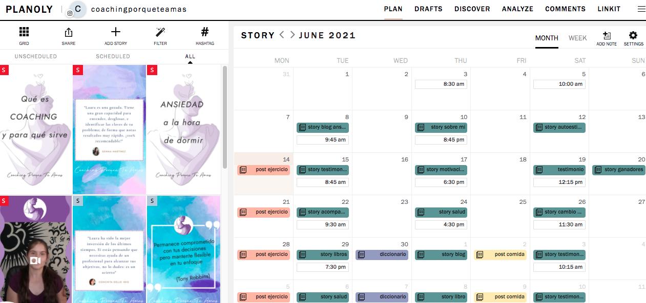 planoly calendario editorial programar stories de instagram